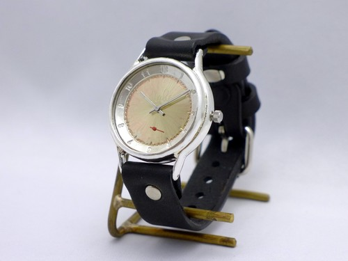 "手作り時計 Hand Craft Watch ""J.S.S.-SS2"" JUMBO Silver スモールセコンド [JUM38SV-SS2"" BK"