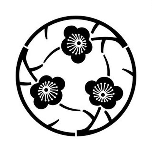 三つ追い枝梅の丸 aiデータ