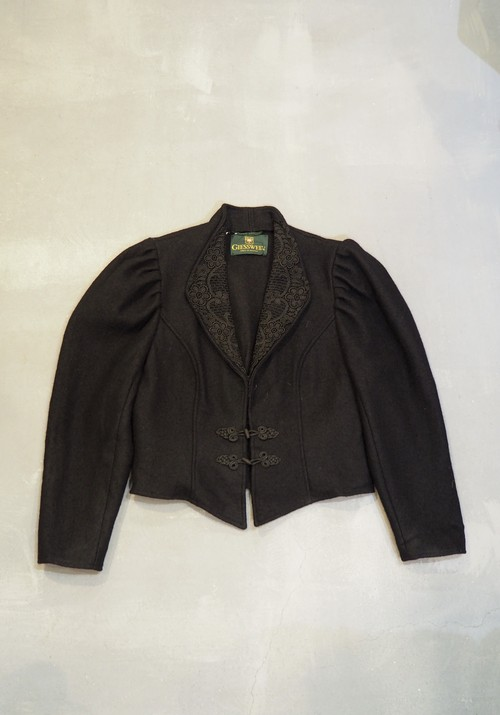 Tyrolean Lace Collar Jacket / Made in Austria [O-296]
