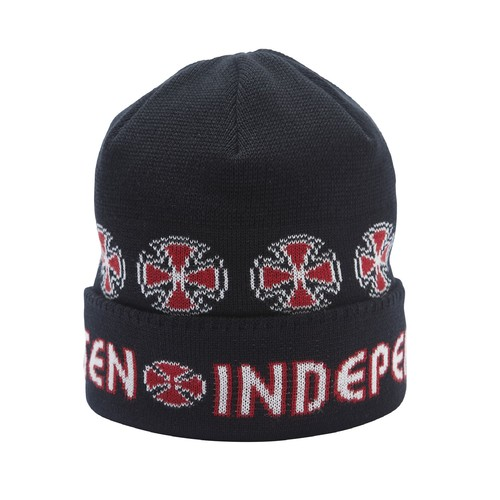 EVISEN × INDEPENDENT BEANIE BLACK
