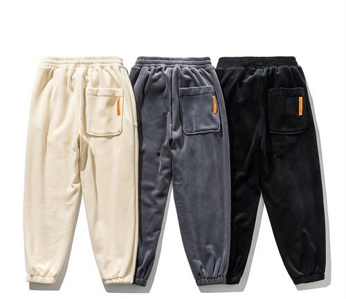 ★UNISEX コーデュロイカラーシューストリートパンツ(Cream,Grey,Black) 138