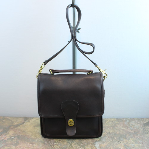 .OLD COACH TURN LOCK LEATHER 2WAY SHOULDER BAG MADE IN USA/オールドコーチターンロックレザー2wayショルダーバッグ 2000000033846