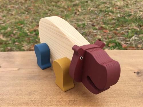 木のおもちゃ Iroki  Animal   カバ
