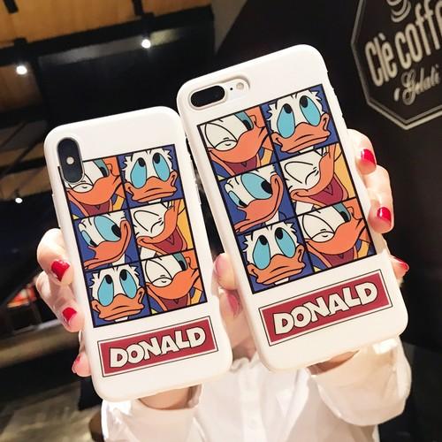 オリジナル ドナルドダック 可愛い iPhoneXソフトケース 個性風 Donald Duck iPhone8/7plus 携帯ケース ペア アイフォン7/6プラスケース ストリート iPhone6s plusカバー 芸能人愛用