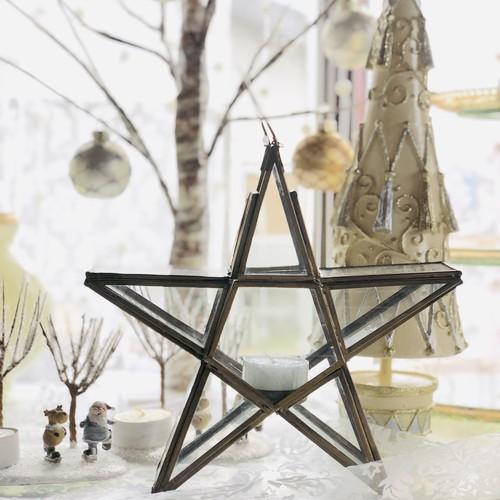 真鍮フレームの星型キャンドルホルダー Sサイズ