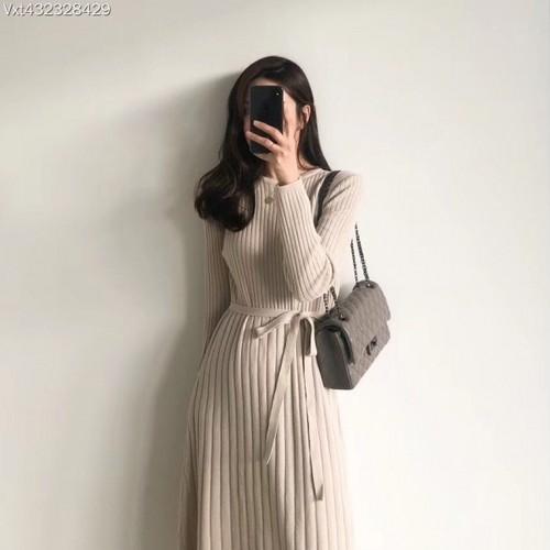 バノロングニットワンピース ニットワンピース ワンピース 韓国ファッション