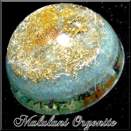 半円型オルゴナイト【銀河のフローライト】