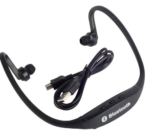 黒ブラック ワイヤレス スポーツイヤホン Bluetooth