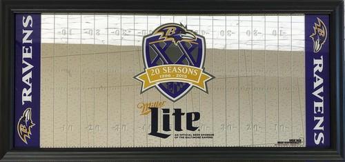 品番0057 パブミラー 『Miller Lite(ミラー ライト)&  BALTIMORE RAVENS(ボルチモア レイブンズ)』 壁掛 NFL ディスプレイ アメリカン雑貨