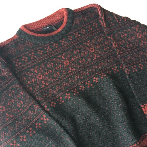 GANT : nordic pattern knit (used)