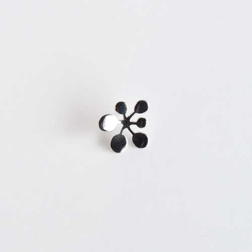 【Pierce Earring】Leaf / Circle L silver