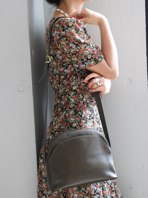 CELINE round khaki shoulder bag