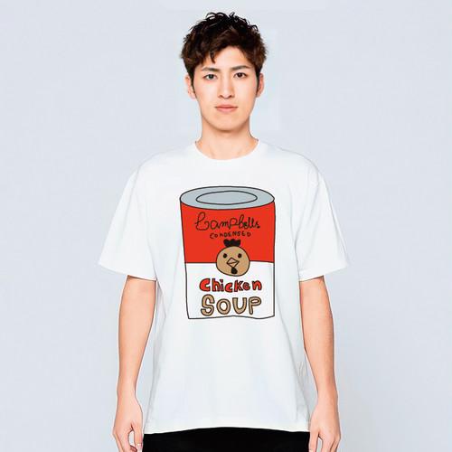 スープ缶 アート デザイン Tシャツ メンズ レディース 半袖 キャンベル トップス 白 30代 40代 大きいサイズ 綿100% 160 S M L XL