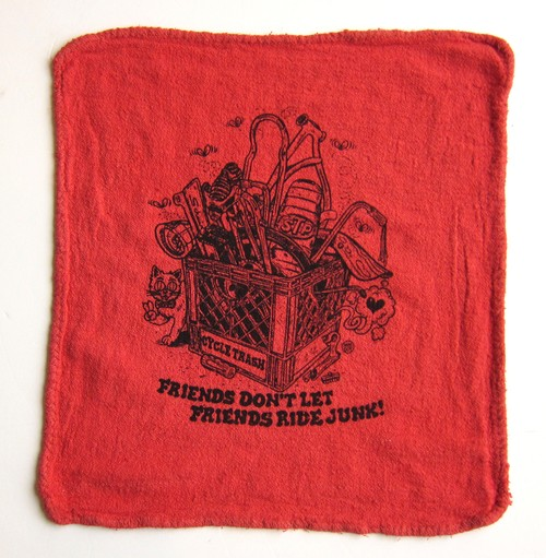 Cycle Trash 21th anniversary Shop Towel, Red-Create by Burrito Breath