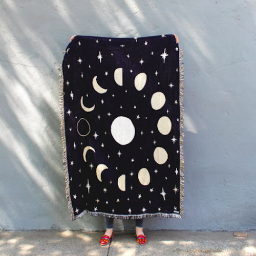 CALHOUN&CO. MOON PHASES THROW BLANKET  ブランケット