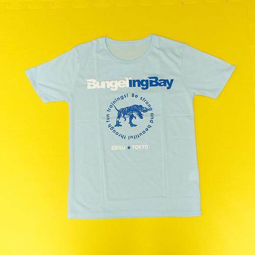 BungelingBay Tシャツ(ライトブルー×白青字バックプリントLove&Humor)