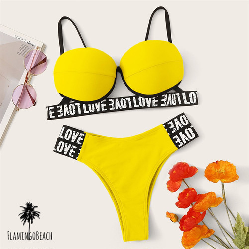【FlamingoBeach】neon band bikini ビキニ 54294