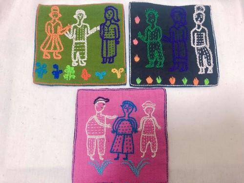 レンテン族 刺繍コースター ひと