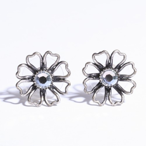 Flower silver Pierce