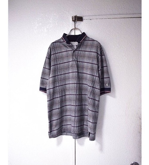 jacquard cotton ポロシャツ