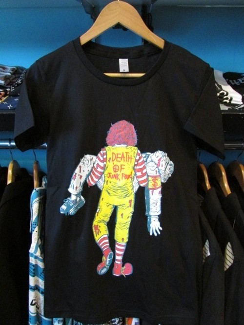 S/STシャツ DEATH OF JUNKFOOD ブラック