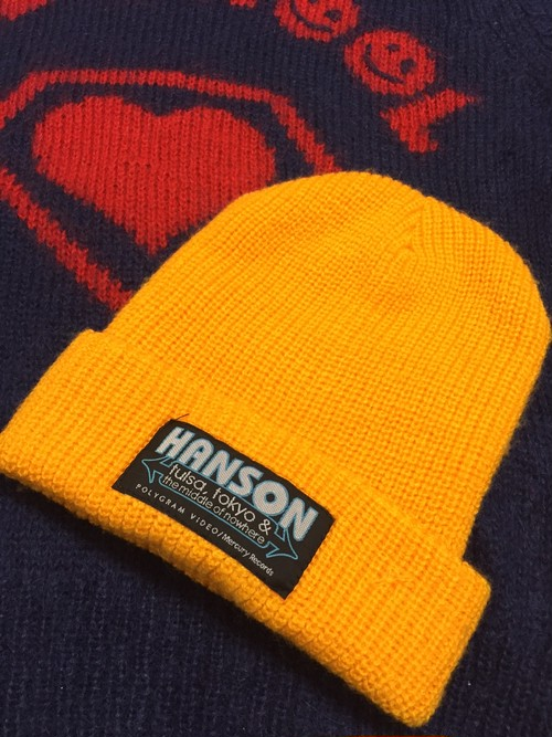 "1997's HANSON ""Tulsa, Tokyo & the Middle of Nowhere"" knit cap"