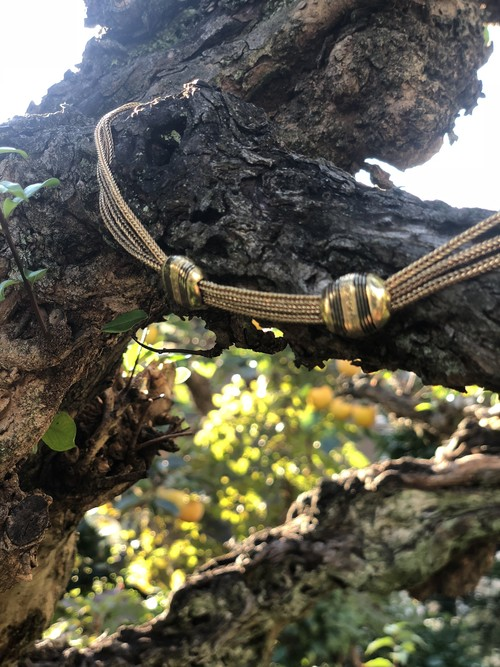 Enamel Slides Gold watch chain