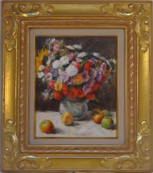 モネの静物画再構成 油絵 手描き