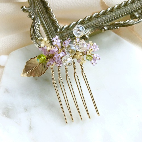 Sweet lilac haircomb