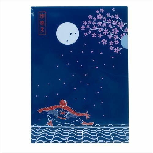 【A4クリアファイル】スパイダーマン/月に桜