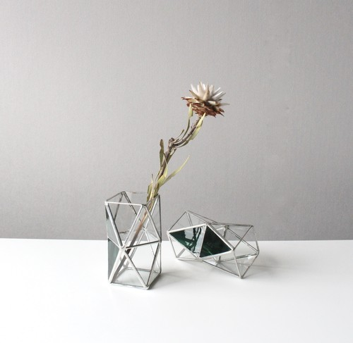 Two step triangle Vase