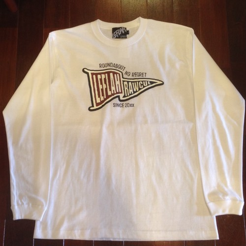 "LEFLAH / レフラー |  "" FLAG ""  LS-Tee / White"