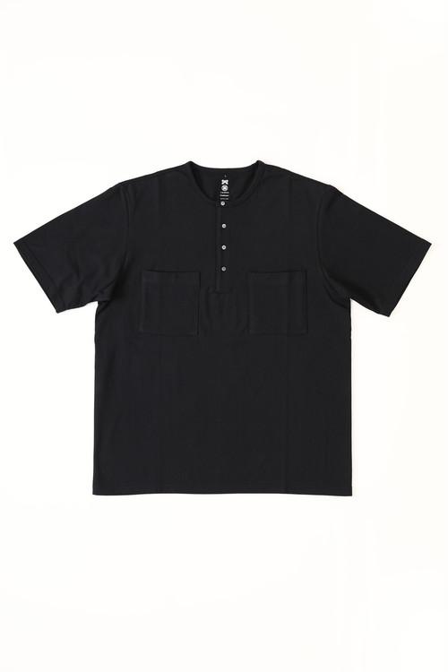 ヘンリーネックTシャツ / Y. & SONS × Graphpaper / BLACK