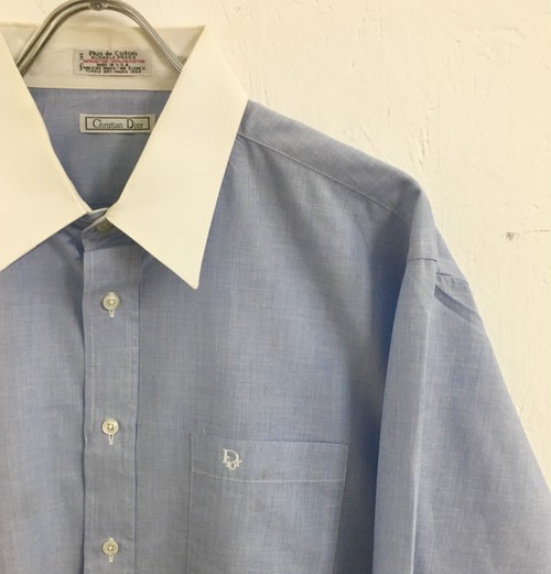 Christian Dior : white collar dress shirt (used)