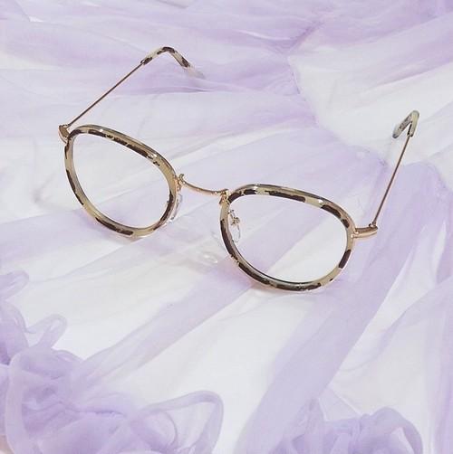 ボストン glasses / ベージュ べっ甲