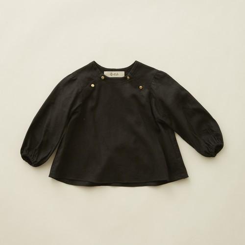 《eLfinFolk 2020AW》C/L washer  baby blouse / black / 80-100cm
