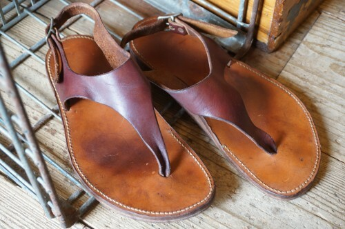80's Unknown handcrafted leather thong Sandals
