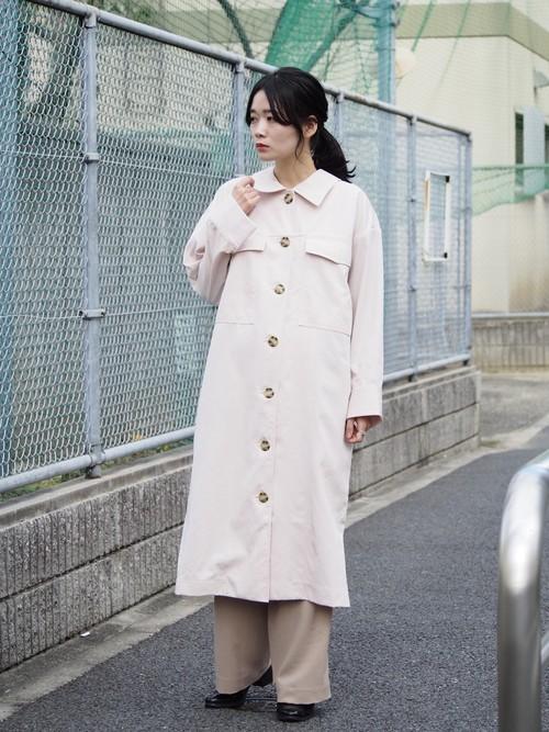 NATSUMI ZAMA Pocket Long Coat pink