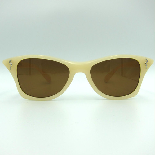 "Shady Spex ""MEOW"" sunglasses, Bone w/Polarized Brown lenses"