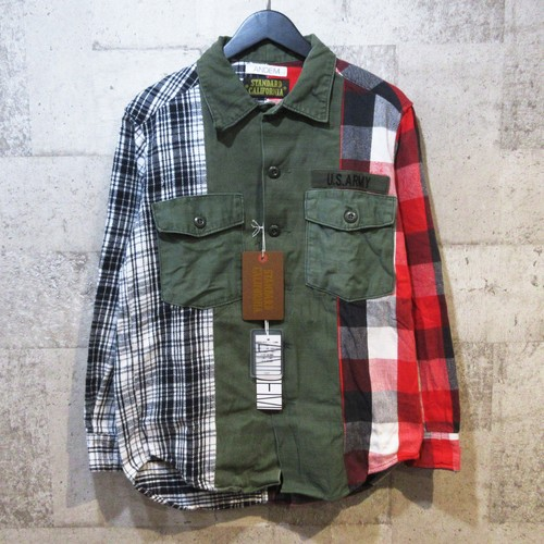 STANDARD CALIFORNIA × ANDEM REMAKE ARMY SHIRT【スペシャルプライス】