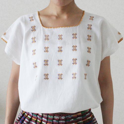 ポイント刺繍ブラウス/ Msize /259a/ MEXICO メキシコ