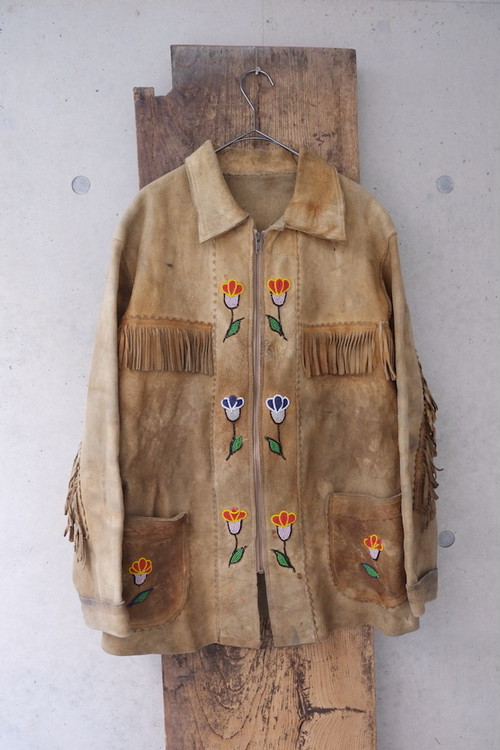 vintage/American Indian leather jacket(30's).