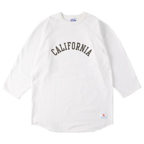 STANDARD CALIFORNIA #SD Heavyweight Logo Baseball T White