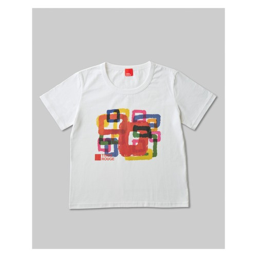 Rough Square T-Shirt White
