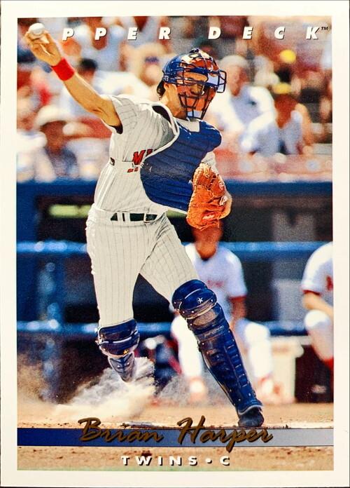 MLBカード 93UPPERDECK Brian Harper #110 TWINS