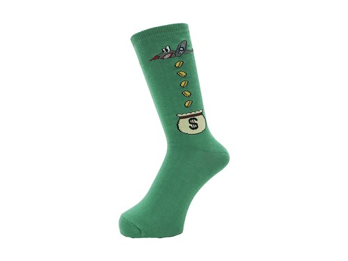 WHIMSY - 32/1 MONEY RAIDERS SOCKS (Green)