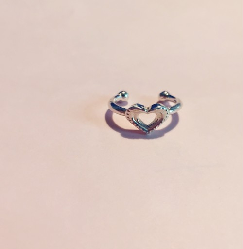 Heart dot phalange RING #0126-sv