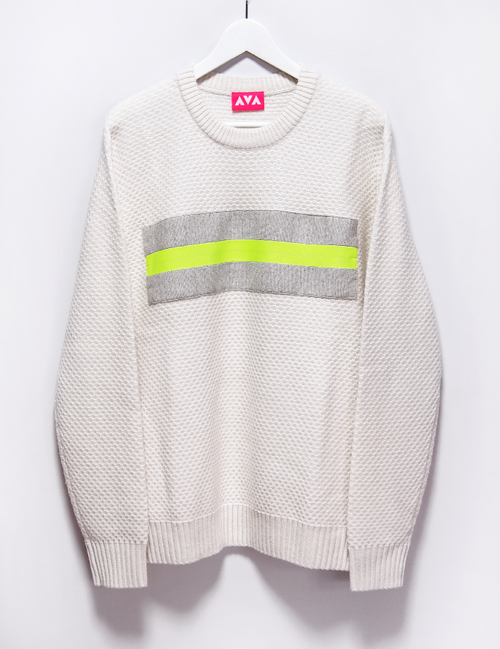 Remake wool knit (white/XL)