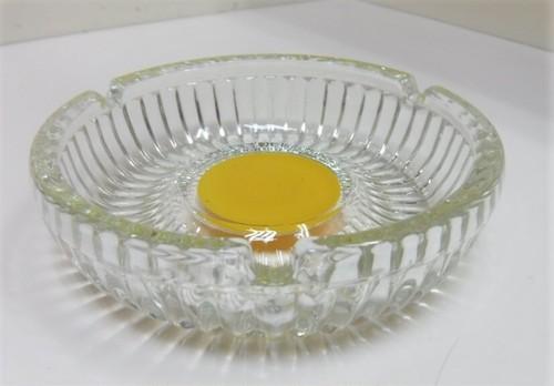レトロなガラスの灰皿【イエロー】(040420460)