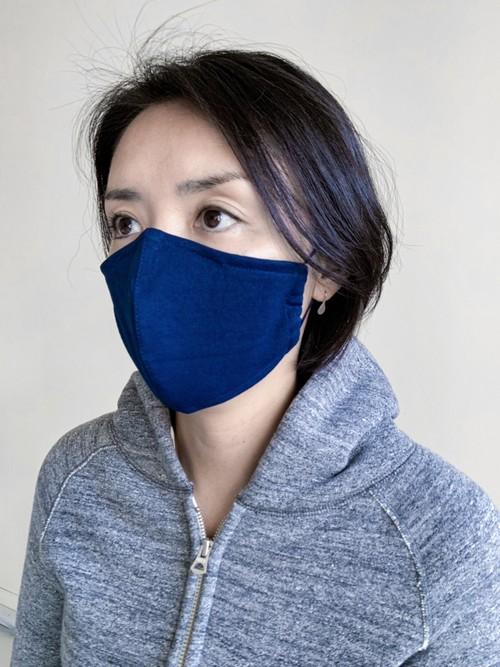 【大人用・ネイビー】和紙100% 国産洗えるマスク(ノーズワイヤー仕様)